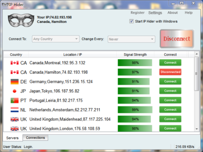 Hide your ip address free software