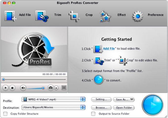 Bigasoft ProRes Converter for Mac