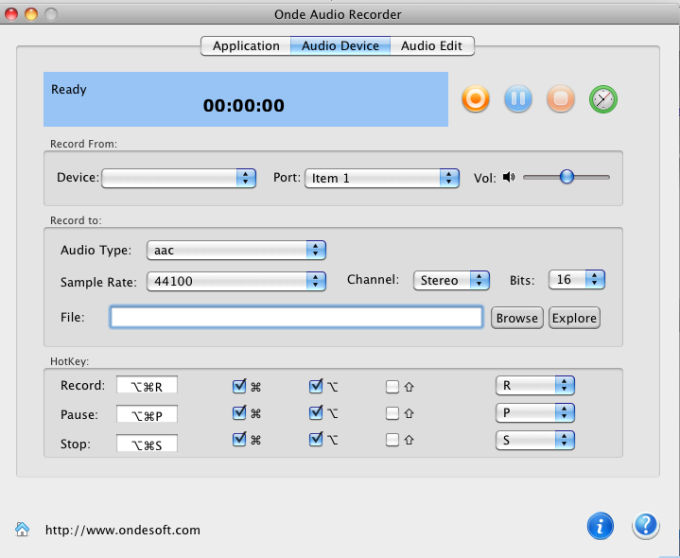Onde Audio Recorder for Mac