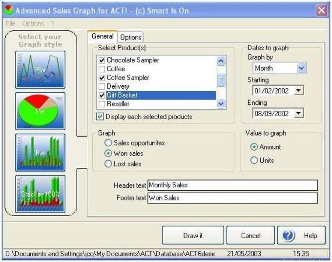 Advanced Sales Graph. ACT! Addon