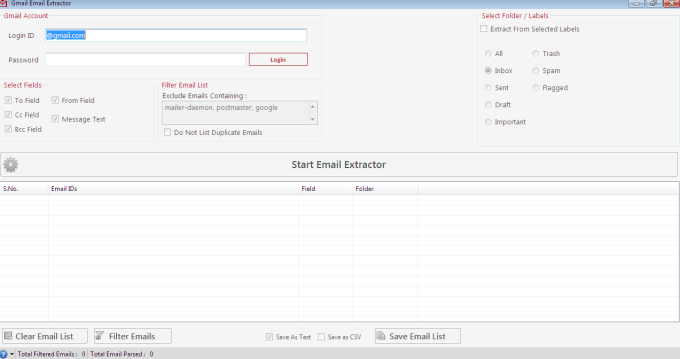 Gmail Email Extractor Download