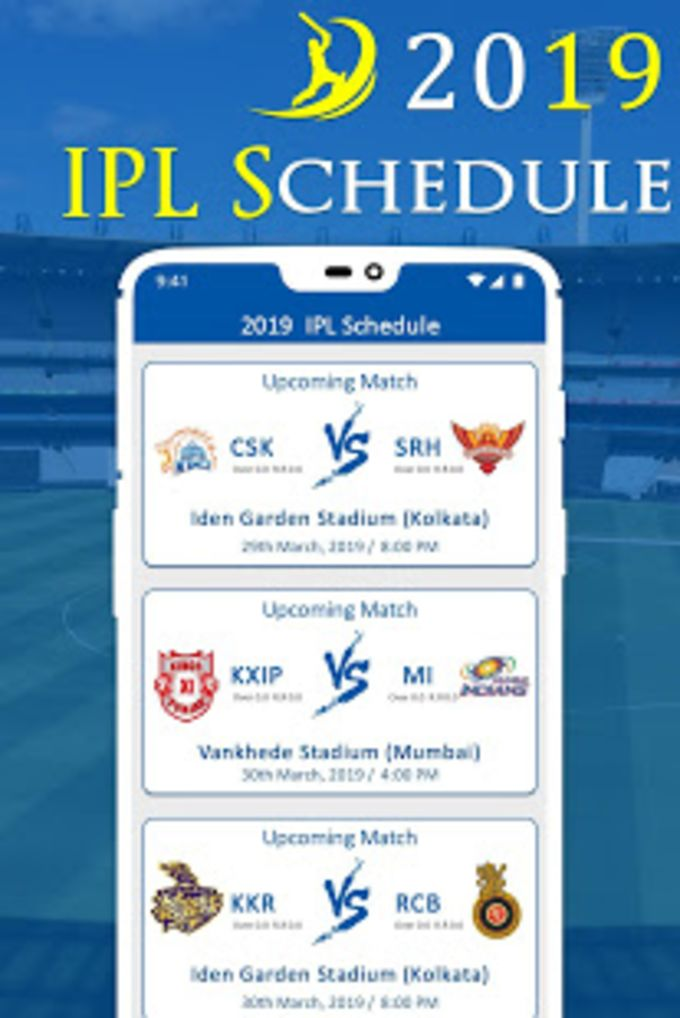 IPL 2019 Schedule : Live Score Photo Maker Teams