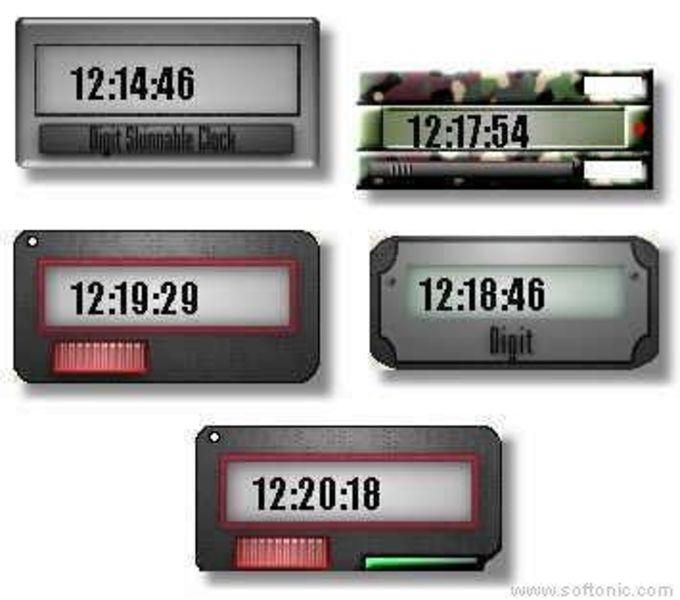 Digit Skinnable Clock