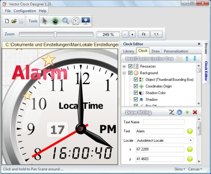 Vector Clock Designer