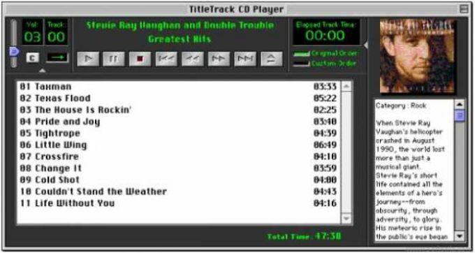 TitleTrack CD Player