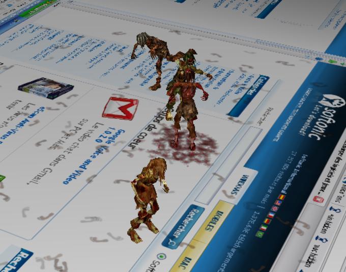 3D Desktop Zombies! Screensaver