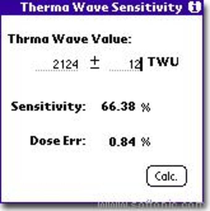 ThermalWave Sensitivity Calculator