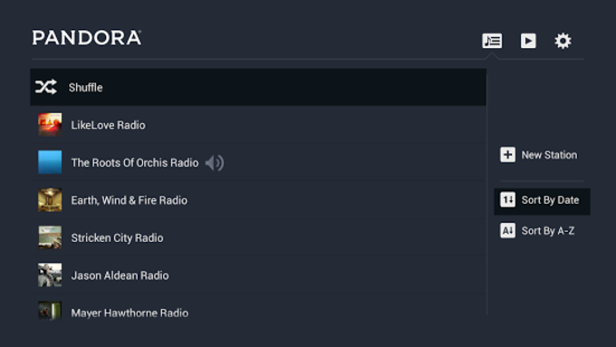 Pandora® Radio for TV