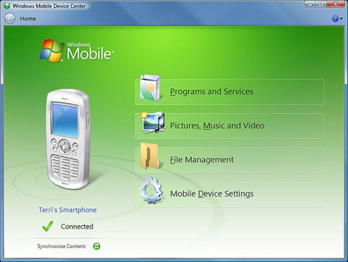 Windows Mobile Device Center