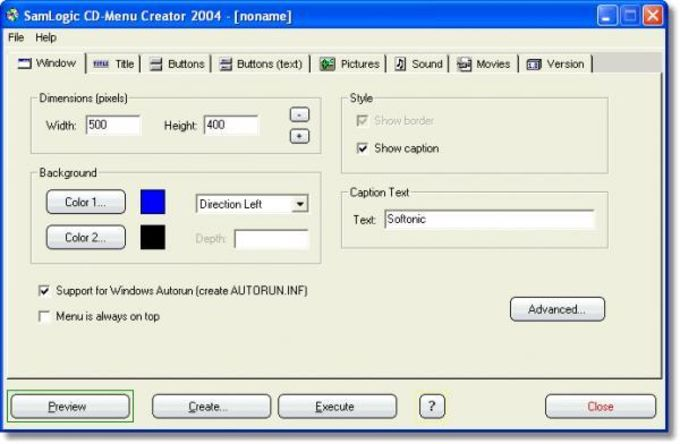 SamLogic CD-Menu Creator