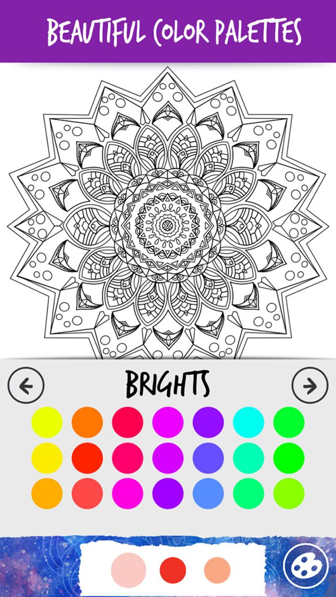 Color Swag-Coloring Pages for Grown Ups. Zentangle Mandala for Free Adult Anxiety Therapy