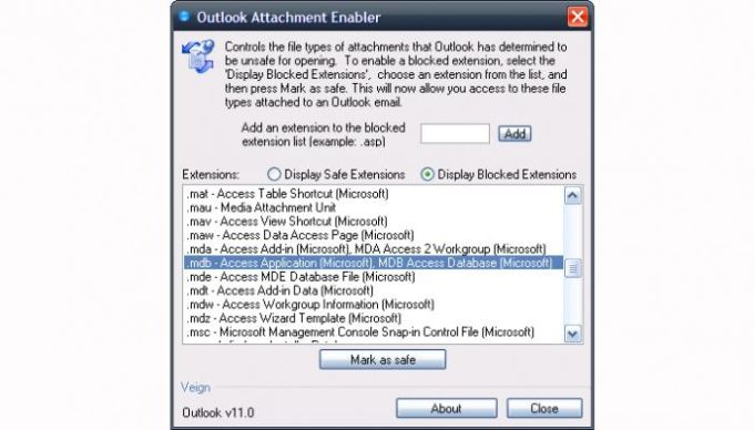 Outlook Attachment Enabler