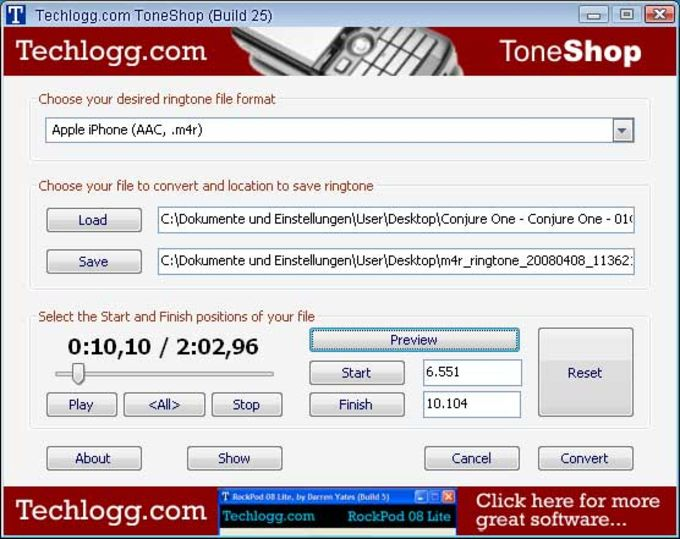 ToneShop Easy Ringtone Creator