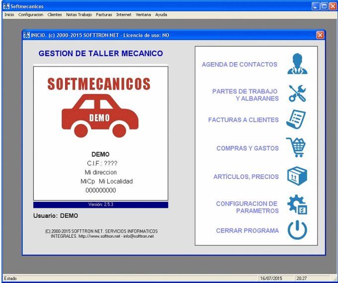 Programa Gestion Taller Mecánico