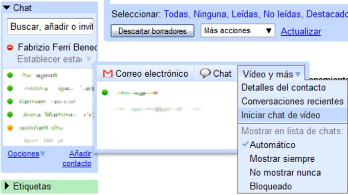 Chat de voz y vídeo de Google