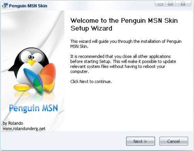 Penguin MSN Skin