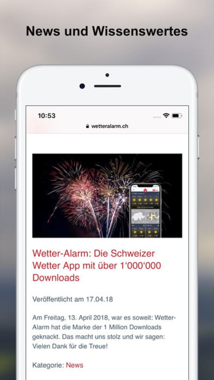 Wetter-Alarm: für die Schweiz