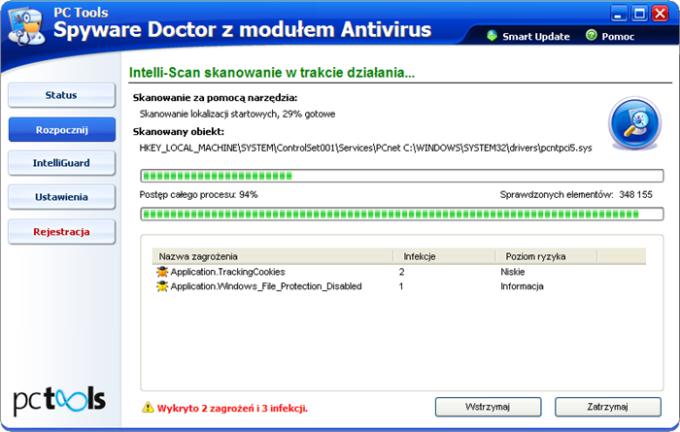 PC Tools Spyware Doctor z modułem Antivirus