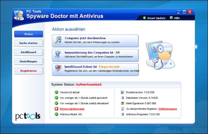 PC Tools Spyware Doctor mit Antivirus 2011