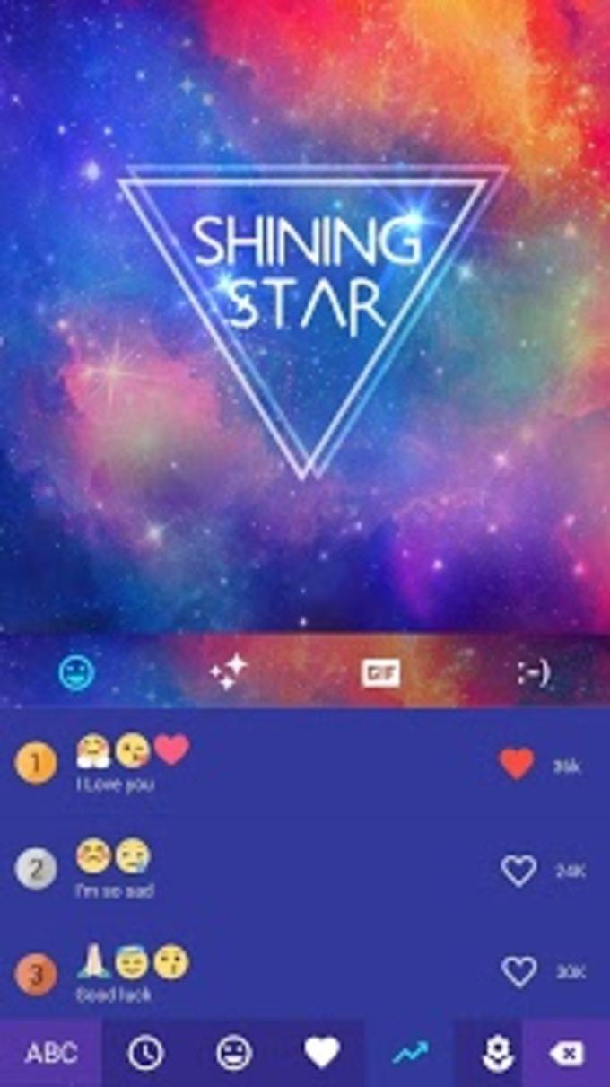 Shiny Star Keyboard Theme