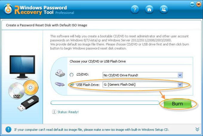 Windows Password Recovery Tool Professional