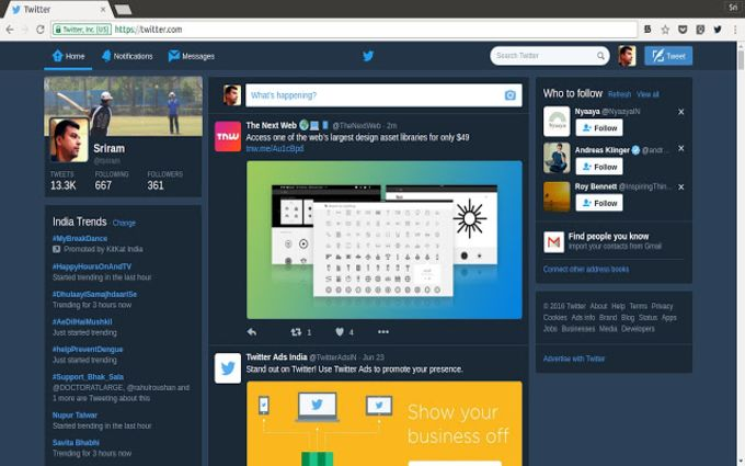 Twitter Web - Night Mode