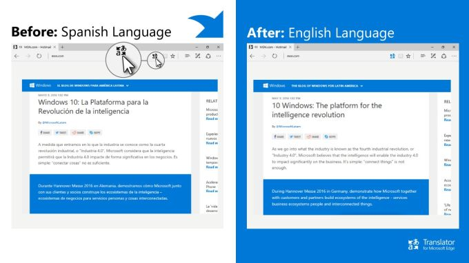 Translator for Microsoft Edge
