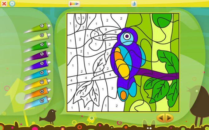 Colorear por números-Animales