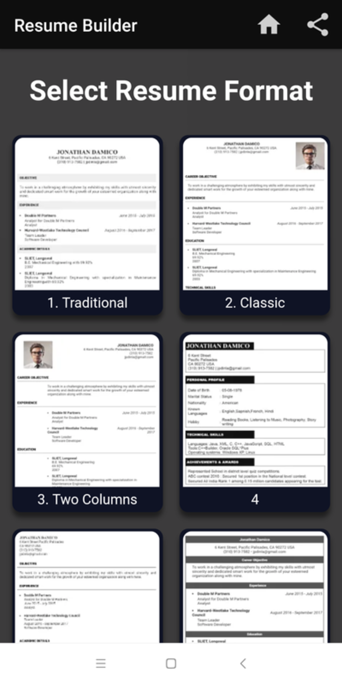 Download Resume Pdf Maker Cv Builder For Android Free Latest