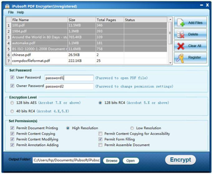 iPubsoft PDF Encrypter
