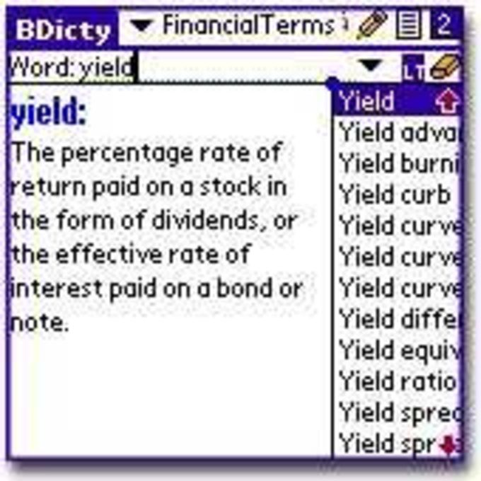 Financial Terms Dictionary Lexicon