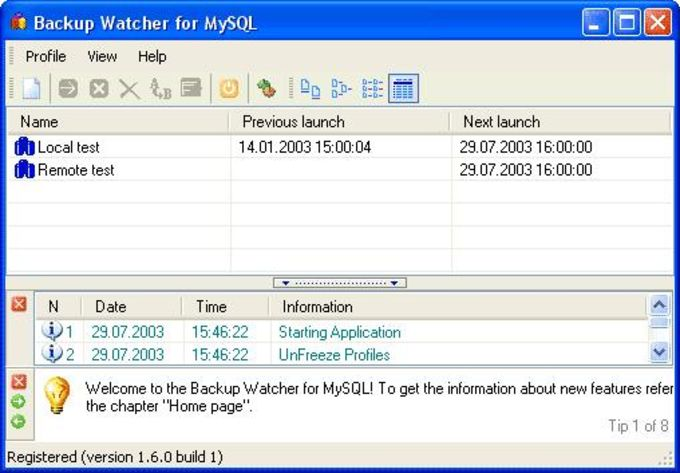 Backup Watcher for MySQL