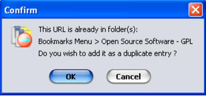 Bookmark Duplicate Detector