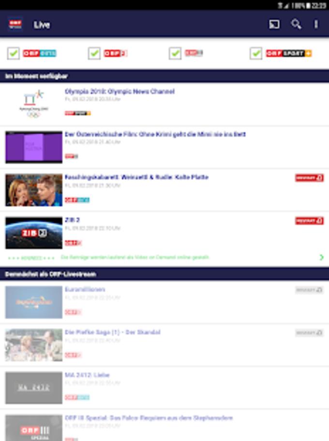 ORF TVthek: Video on demand