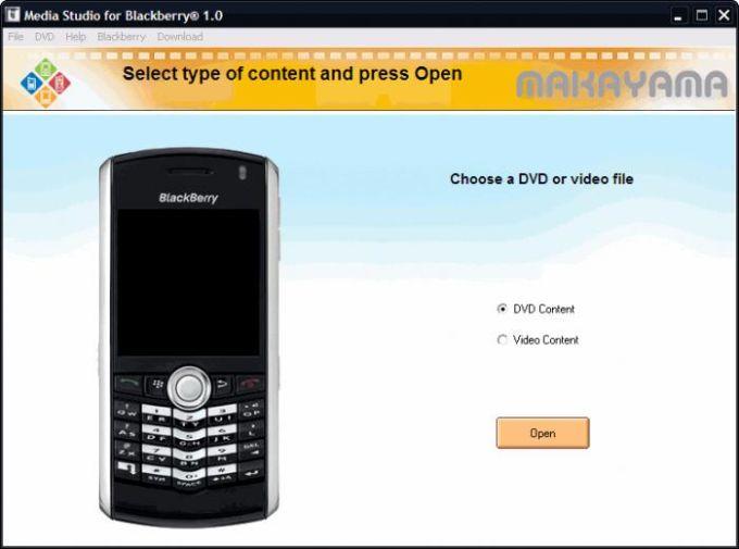 Media Studio for BlackBerry