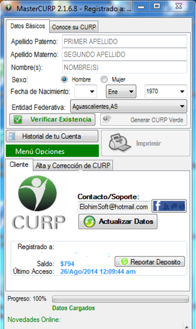Master CURP