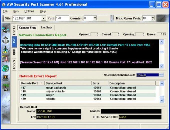 Atelier Web Security Port Scanner