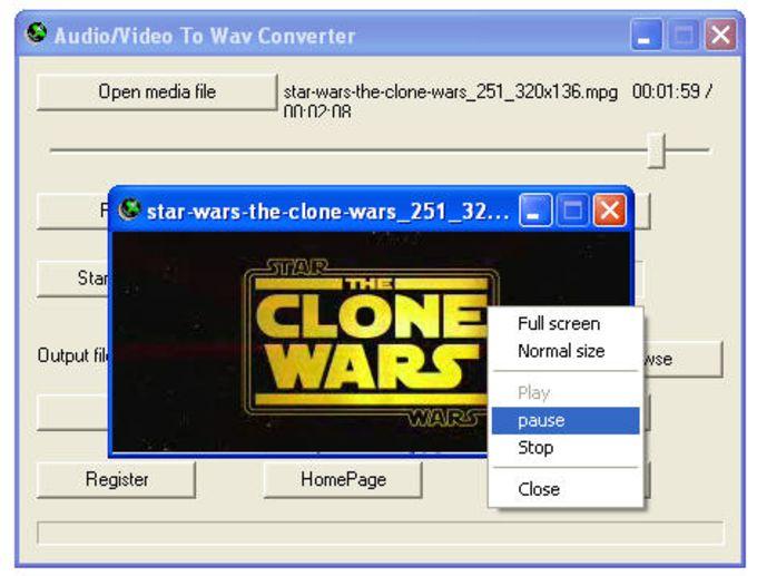 Audio/Video To Wav Converter