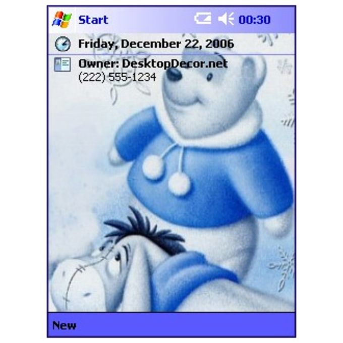 Pooh White Christmas Theme