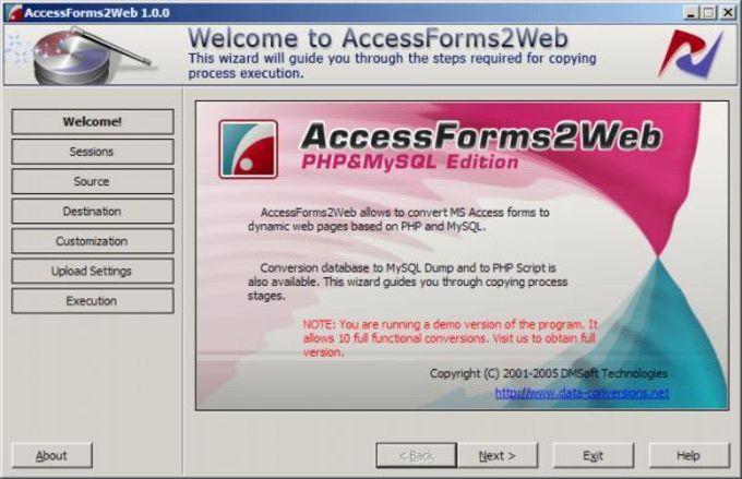 AccessForms2Web
