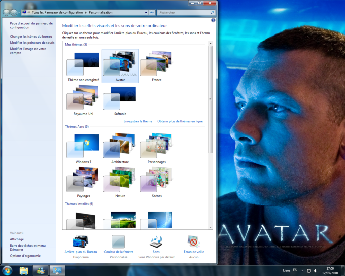 Thème de bureau Avatar