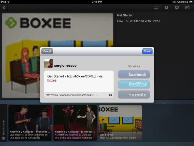 Boxee for iPad