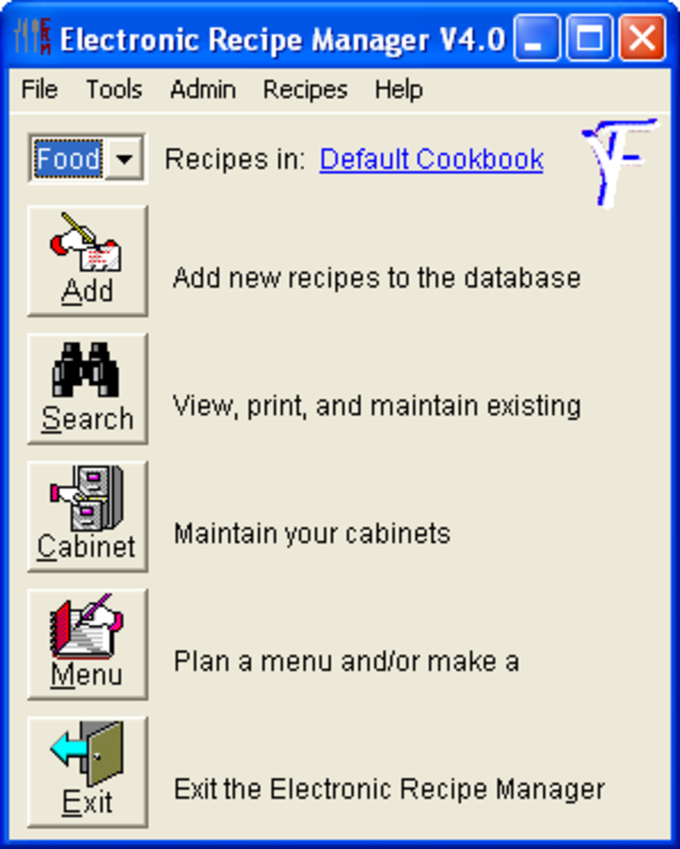 Electronic Recipe Manager