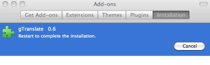gTranslate Extension