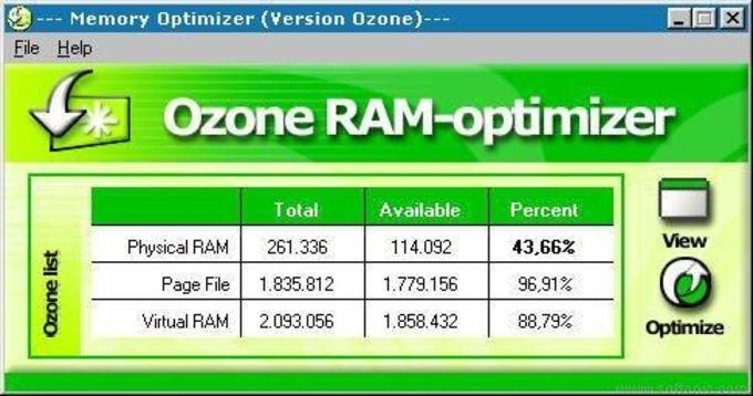 Ozone RAM-optimizer
