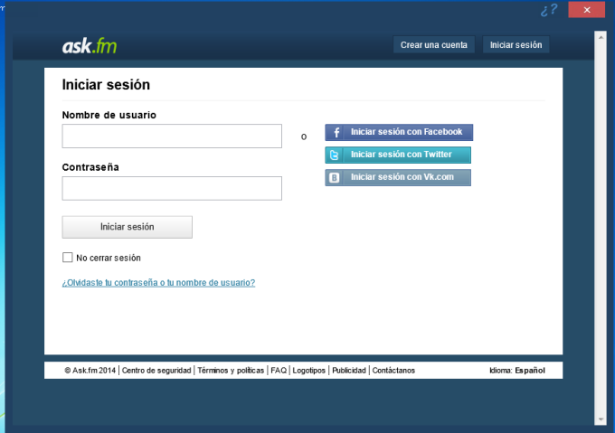 ask.fm For Desktop