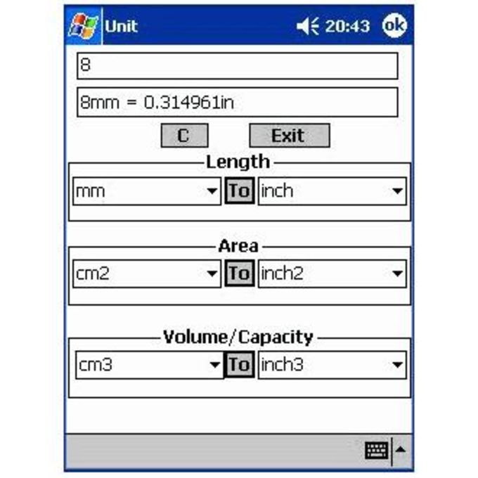 Pocket PC Scientific Calculator Free Edition