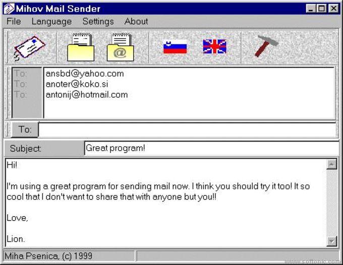 Mihov Mail Sender