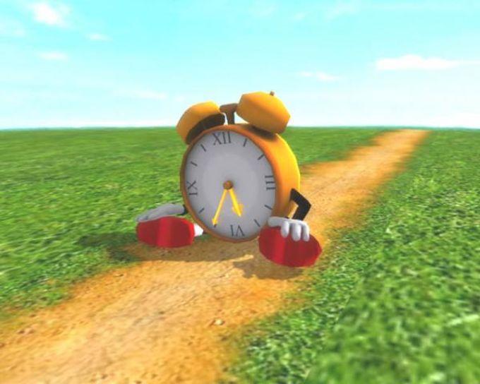 Running Clock 3D Screensaver
