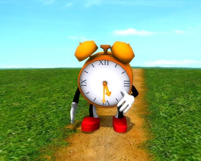 Running Clock 3D Screensaver